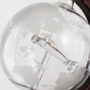 World Globe Decanter with Airplane