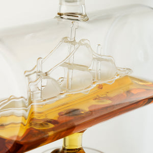 Antique Ship Decanter Set