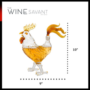 Cock - Chicken Whiskey and Wine Decanter