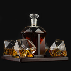 Diamond Decanter 4 Glasses Set