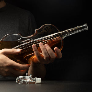 Glass Violin Decanter