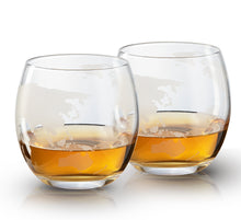 Load image into Gallery viewer, World Decanter with 4 Glasses and Whiskey Stones