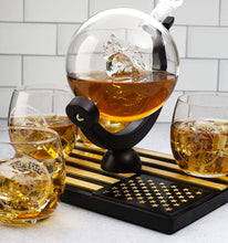 Load image into Gallery viewer, Marine Decanter Set With 4 Whiskey Glasses 1000ml Marines Gift Decanter by The Wine Savant