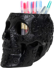 Load image into Gallery viewer, Skull Makeup Brush Holder
