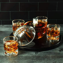 Load image into Gallery viewer, Basketball Decanter Set, Whiskey Scotch or Bourbon Decanter