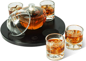 Basketball Decanter Set, Whiskey Scotch or Bourbon Decanter