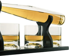 Load image into Gallery viewer, Baseball Decanter  Bat Whiskey Decanter Set with 4 Baseball Glasses