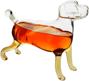Dog Animal Whiskey and Wine Decanter 500ml