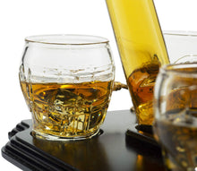 Load image into Gallery viewer, Ice Hockey Whiskey Decanter Set With 4 Helmet Whiskey Glasses