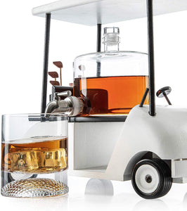 Golf Decanter Whiskey Decanter and Whiskey Glasses