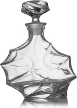 Load image into Gallery viewer, Iceberg Mountain Glacier Shaped Decanter with 4 Glasses and Wood Tray