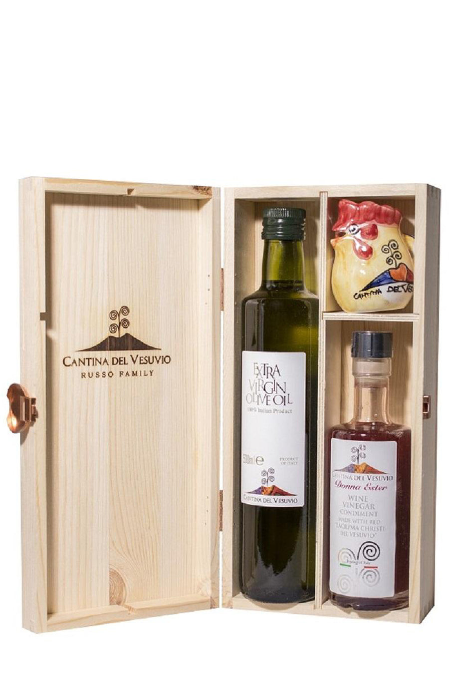 Gift Set with Extra Virgin Olive Oil and Wine Vinegar Condiment