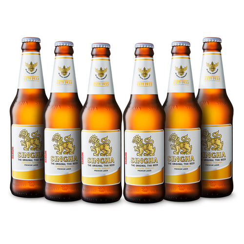 Six Pack Cerveza Singha Botella 330 ml