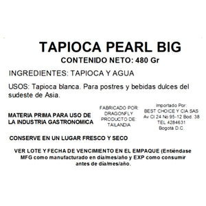 Tapioca Pearl Big Dragon Fish 480 gr