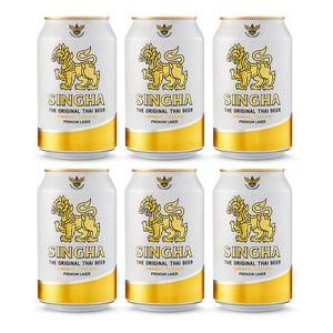 Six Pack Cerveza Singha Lata 330 ml