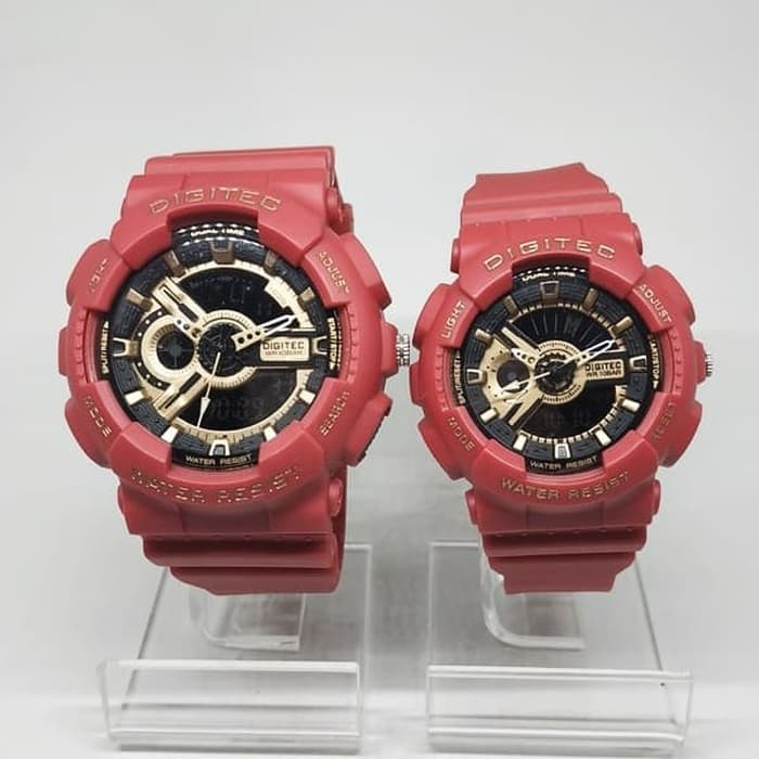 Jam Tangan DIGITEC ORIGINAL COUPLE DG-2063+DG-2020T-05 MERAH