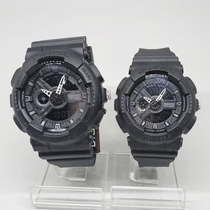 Jam Tangan DIGITEC ORIGINAL COUPLE DG-2063+DG-2020T-02 HITAM