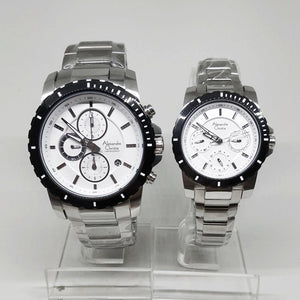 Jam Tangan ALEXANDRE CHRISTIE ORIGINAL COUPLE 6141 SILVER