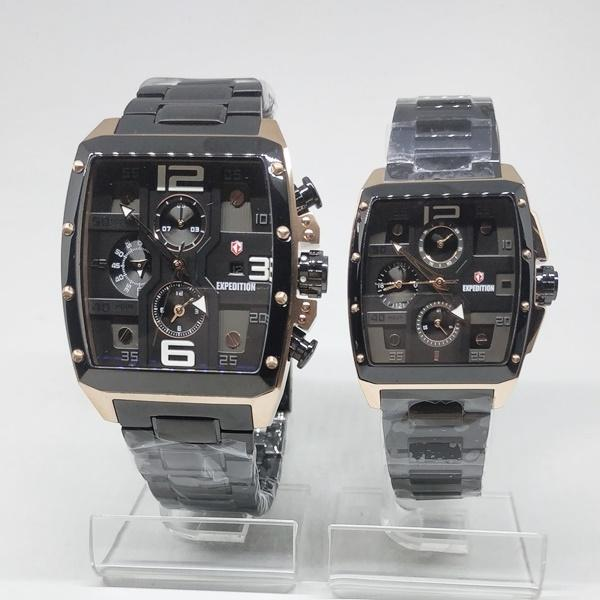 Jam Tangan EXPEDITION ORIGINAL COUPLE E-6636 HITAM ROSEGOLD
