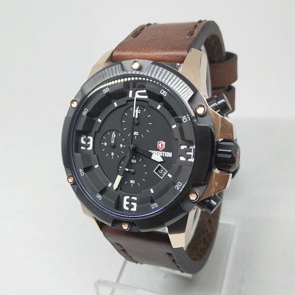 Jam Tangan EXPEDITION ORIGINAL PRIA E-6698 HITAM ROSEGOLD