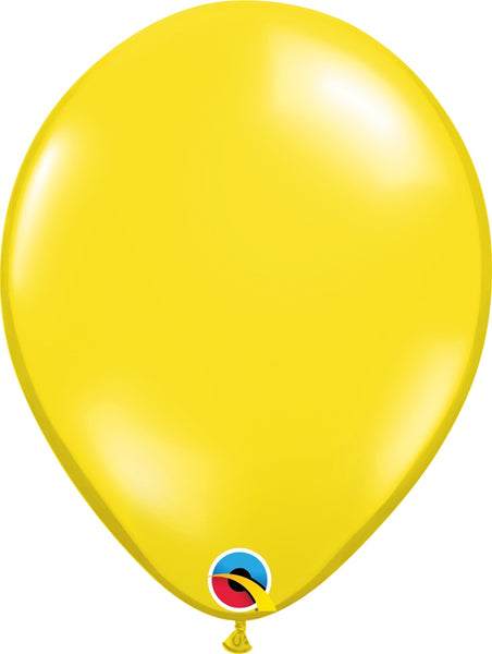 Qualatex 11 inch jewel tone balloons in citrine yellow