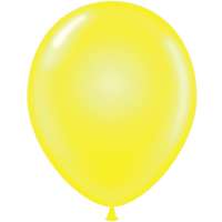 Tuf-tex 14 inch crystal balloons in yellow