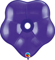 Qualatex 16 inch geo blossom jewel tone balloons in quartz purple