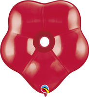 Qualatex 16 inch geo blossom jewel tone balloons in ruby red