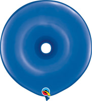 Qualatex 16 inch geo donut jewel tone balloons in sapphire blue