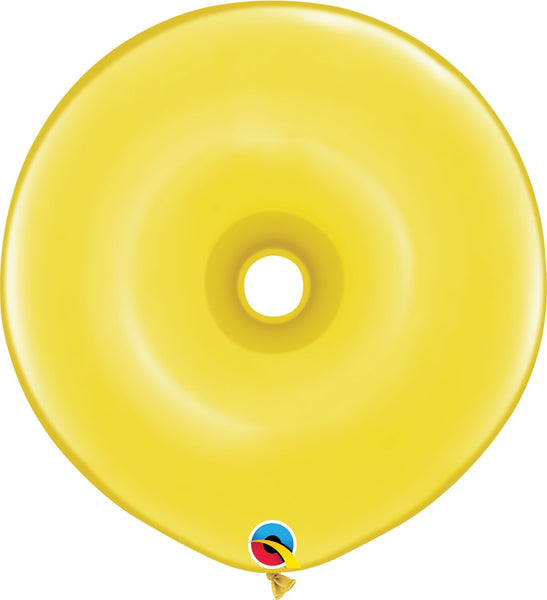 Qualatex 16 inch geo donut jewel tone balloons in citrine yellow