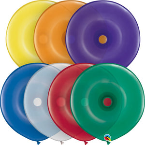 Qualatex 16 inch geo donut jewel tone balloons in assorted colours