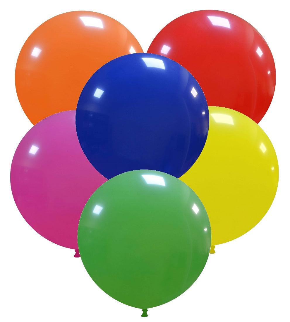 "Cattex 19"" round standard balloons in assorted colours"