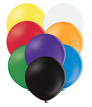 "Open image in slideshow, Belbal 24"" round standard balloons in assorted colours"