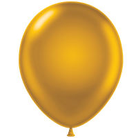 Tuf-tex 11 inch metallic balloons in gold
