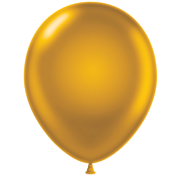 Tuf-tex 14 inch metallic balloons in gold