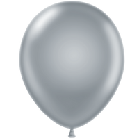 Tuf-tex 11 inch metallic balloons in silver