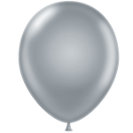 Tuf-tex 14 inch metallic balloons in silver