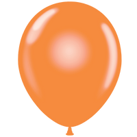 Tuf-tex 11 inch crystal balloons in tangerine