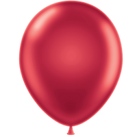 Tuf-tex 11 inch metallic balloons in red
