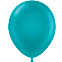 Tuf-tex 11 inch metallic balloons in teal
