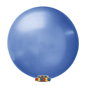 "Globos Payaso 36"" round standard balloons in blue"