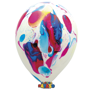 Open image in slideshow, Globos Payaso 14 inch marble balloons