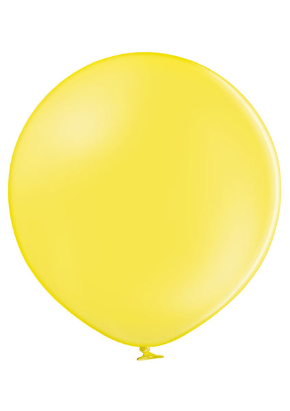 "Belbal 24"" round standard balloons in yellow"
