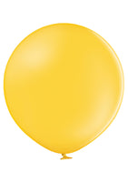 "Belbal 24"" round standard balloons in bright yellow"