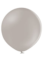 "Belbal 24"" round standard balloons in warm grey"