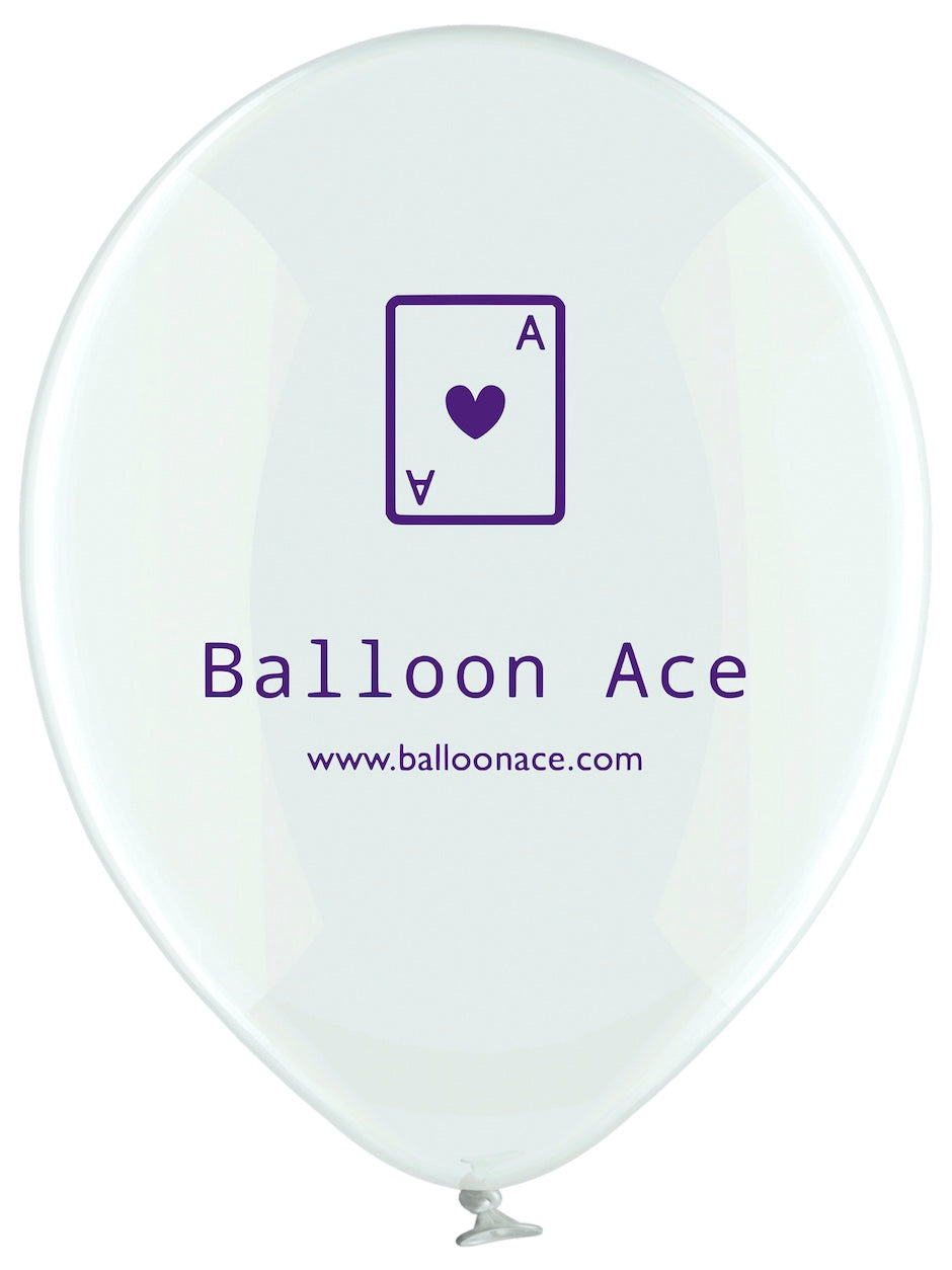 Balloon Ace purple logo (Belbal) custom printed balloons