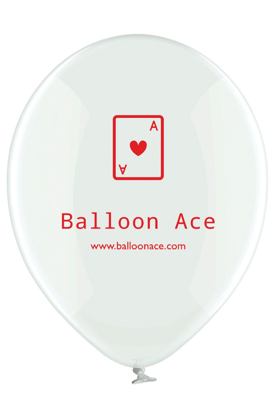 Balloon Ace red logo (Belbal) custom printed balloons
