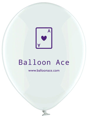 Open image in slideshow, Balloon Ace purple logo (Belbal) custom printed balloons