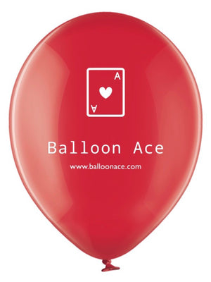 Open image in slideshow, Balloon Ace white logo (Belbal) custom printed balloons