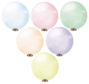 "Globos Payaso 24"" round soap bubble crystal balloons"